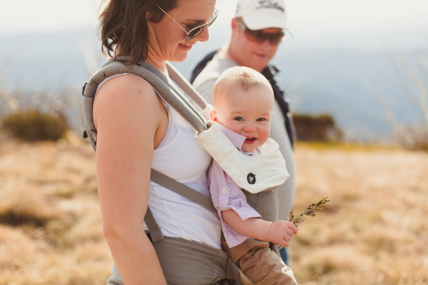 baby wearing lifestyle family session