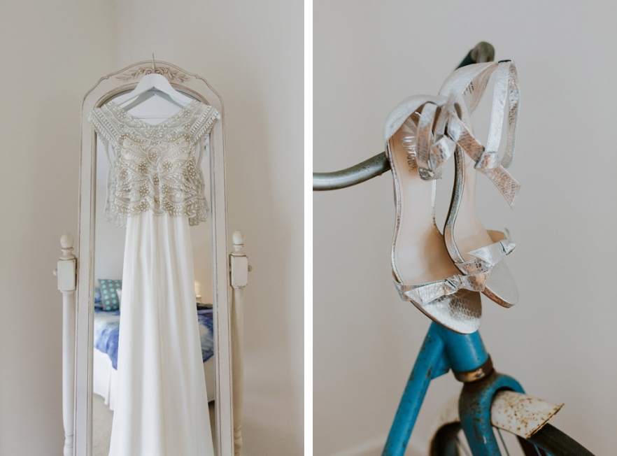 wedding dress wedding shoes